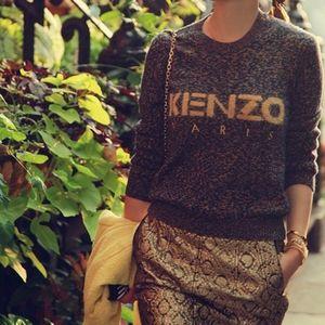Vintage Kenzo Paris knitted wool sweater XS